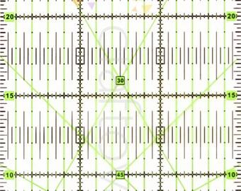 30cm x 15cm Rectangle Quilting Patchwork Grid Ruler Metric