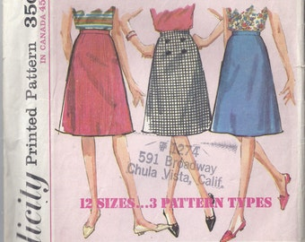 Simplicity 5583; from 1964,  A- Line Skirt,  Simple to Sew