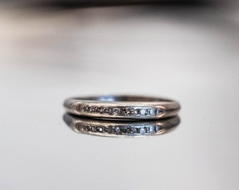 Antique Platinum Diamond Band VEG #83