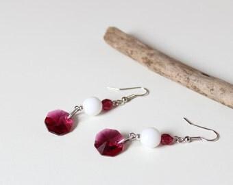 Earrings Fuchsia