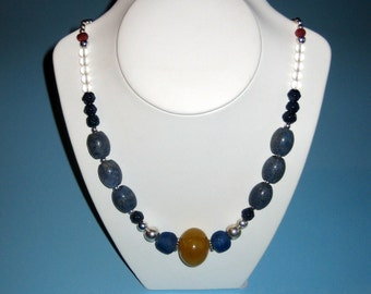 Old genuine amber pedant necklace