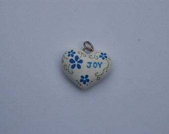Handmade Polymer Clay Heart Pendant