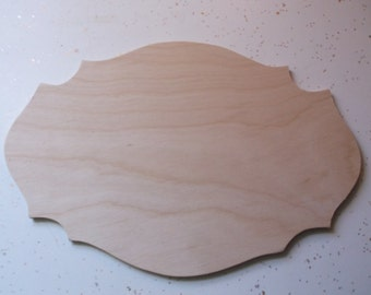 "Unfinished Wooden Plaques, Wood Plaques, Wood Signs, Wood Plates, Wedding Sign - 10"" x 6 3/4"""