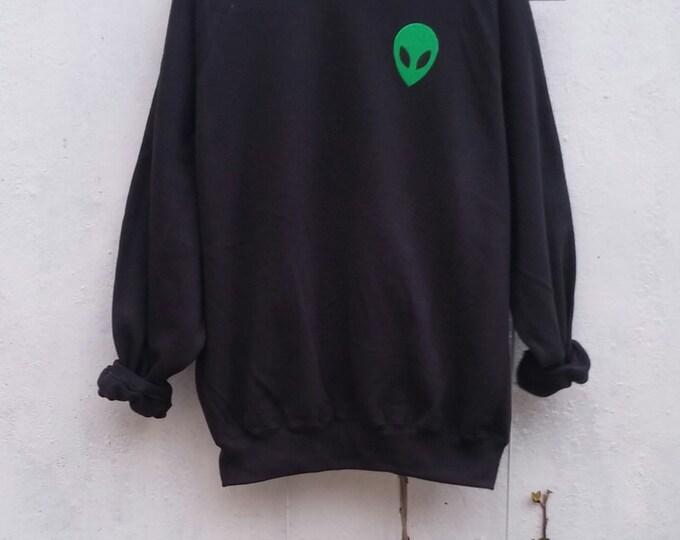 Featured listing image: Acid Alien Sweatshirt, grunge, tumblr