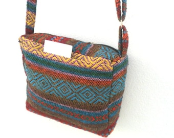 Crossbody Bag Shoulder Bag Bohemian Bag Messenger Bag Purse Handbag Hippie Hobo Bag Gift Thai Bag Handmade Everyday Bag