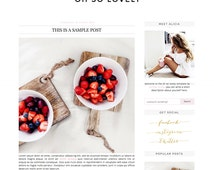 Premade Blogger Template - Instant Download - Oh So Lovely - Blogger Template - blogger theme - blog design - blogger blog template