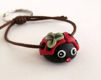 Keyring lucky charms Ladybug gift ideas