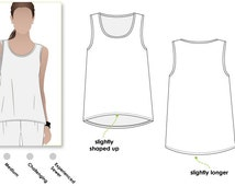Evie Knit Top - Sizes 10, 12, 14 - Women's Sewing Pattern - Singlet Top PDF Sewing Pattern by Style Arc