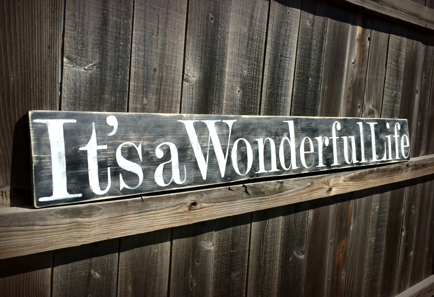 Large It S A Wonderful Life Sign Christmas Sign Wooden