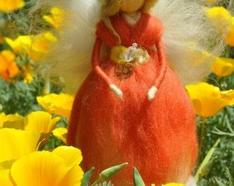 Wool Fairy, needle felted fairy, Waldorf fairy, Waldorf felted doll, Waldorf Inspired Wool Fairy, Waldorf Nursery Decor