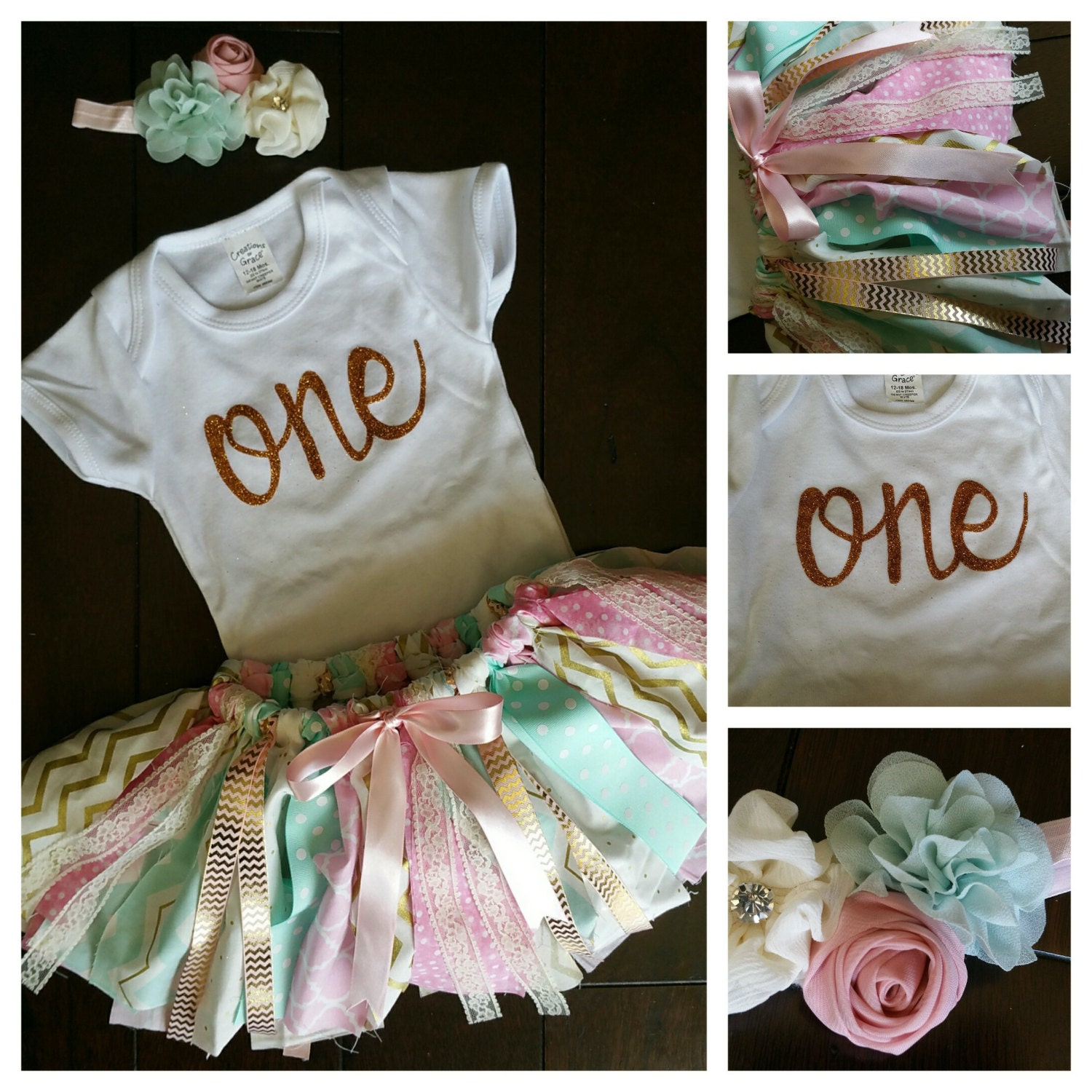 Shabby chic first birthday outfit 1st 3 by imaginationdesignd - Shabby chic outfit ideas ...