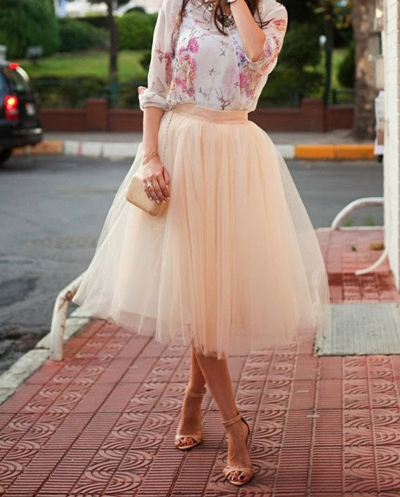 Adult Tulle Skirt , Blush tulle skirt ,Ladies tutu,Tulle skirt,Bridal Shower ,engagement tulle skirt, Wedding tulle skirt, Blush Tutu Skirt