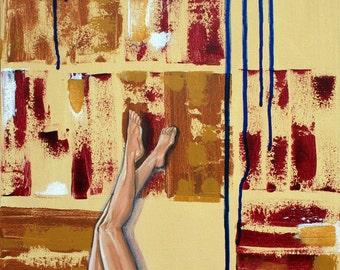 Fine Art Painting: Blue Blood Legs