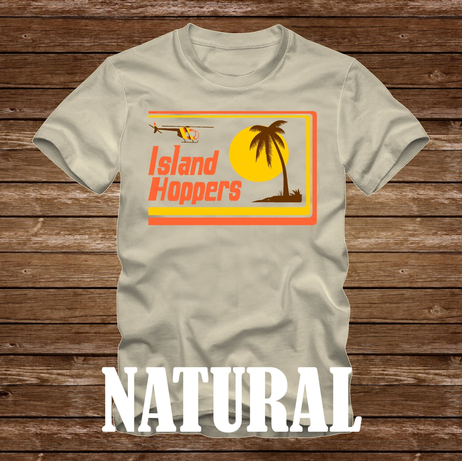 island hoppers magnum pi tshirt adult sizes fun 80s tv