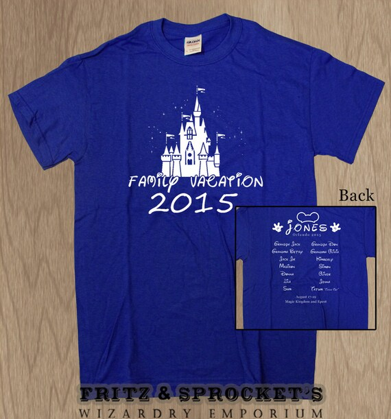 11 disney family vacation custom t shirts by fritzandsprocket for Custom t shirts family vacation