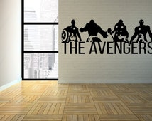 The Avengers Wall Mural, Avengers wall decals, Avengers Wall art, Avengers Silhouettes,