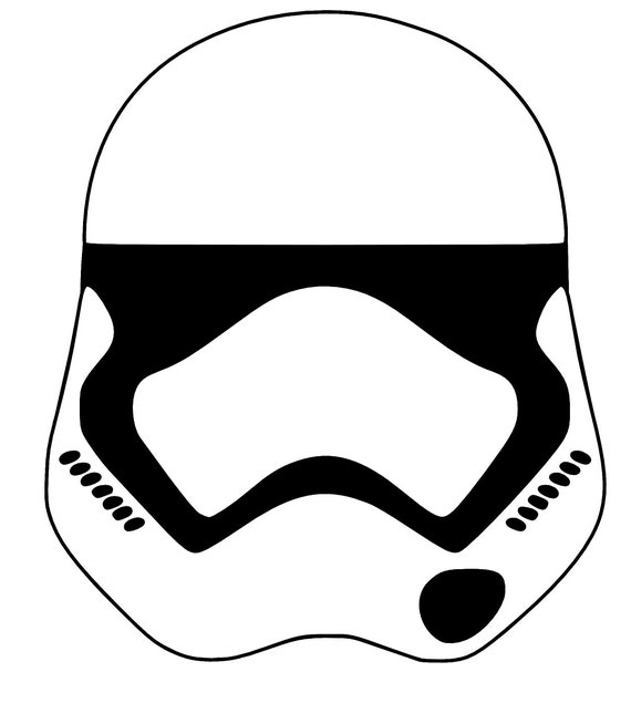 First Order Stormtrooper Helmet Coloring Page Coloring Pages