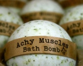 Achy Muscles Bath Bomb, Aromatherapy Bath Bomb, 1 All Natural Bath Bomb Fizzy, Great Stocking Stuffer!