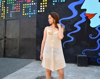 Hand Knit Crochet Dress Boho Dress Beach Dress Perfect Gift