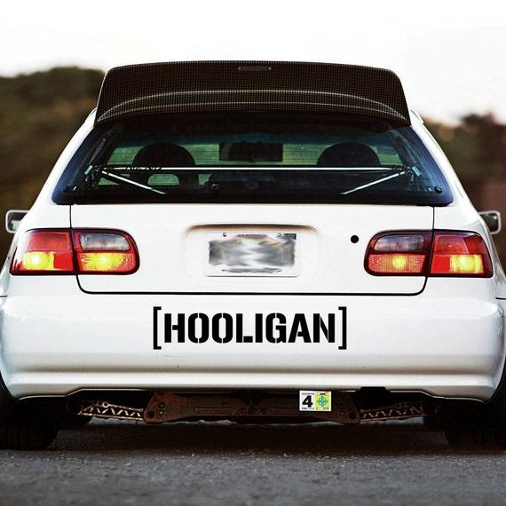 HOOLIGAN Decal Sticker Window Banner Hoonigan Ken Block Racing - Custom race car window decals
