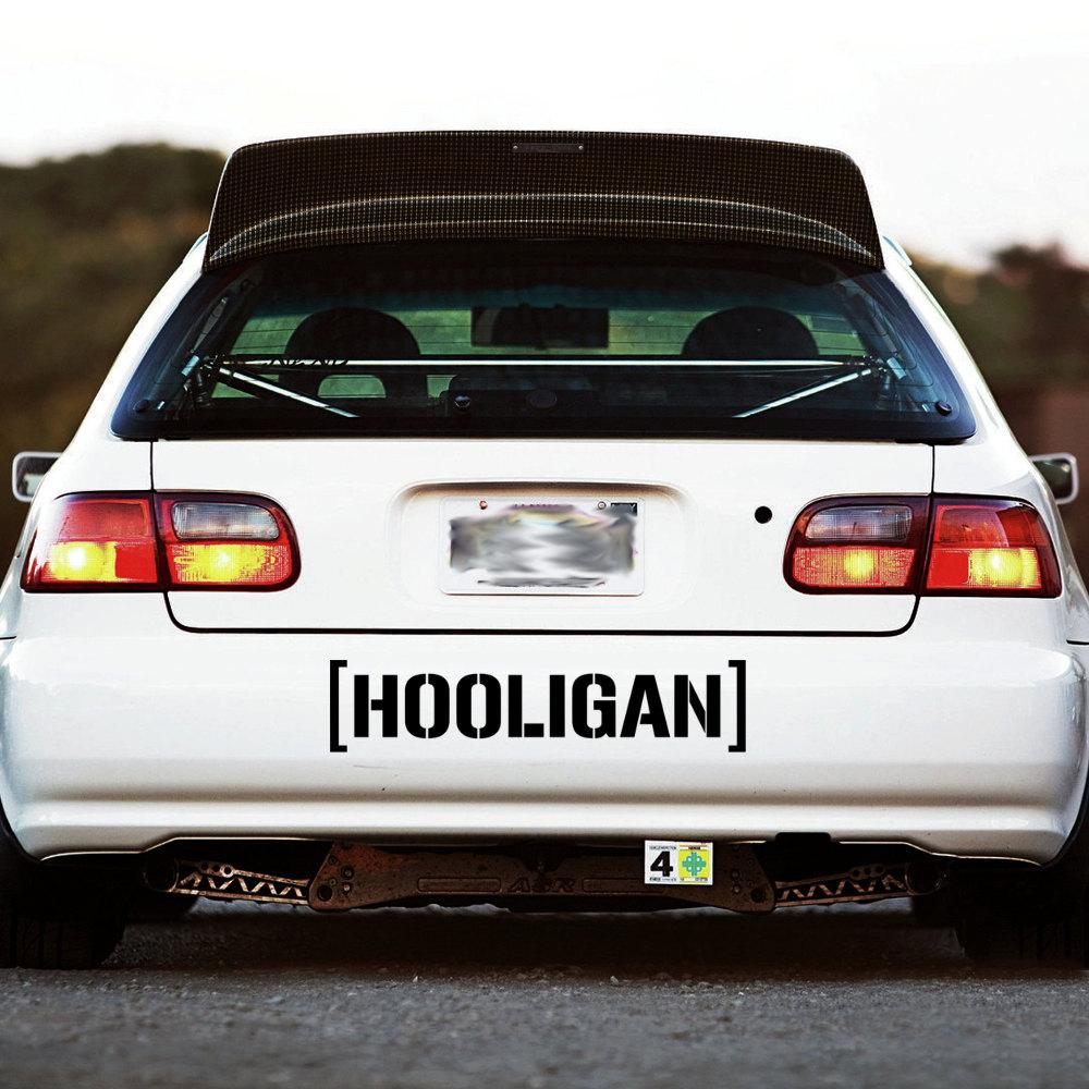 Hooligan Decal Sticker Window Banner Hoonigan Ken Block Racing
