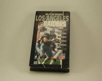Los Angeles Raiders VHS Team Video 1993 - L.A. Raiders 1993 VHS Tape Official Video Yearbook NFL Film - Good Condition - 1992 season tape.