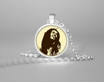 BOB MARLEY NECKLACE Bob Marley Pendant Bob Marley Jewelry Bob Marley Art Bob Marley Photo Bob Marley Memorabilia Rastafarian Reggae Purple