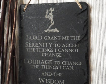 Engraved Serenity Plaque, Slate Sign, Motivational Sign, Support Group, AA, Alcoholics Anonymous, Serenity Prayer, Positive quotes,
