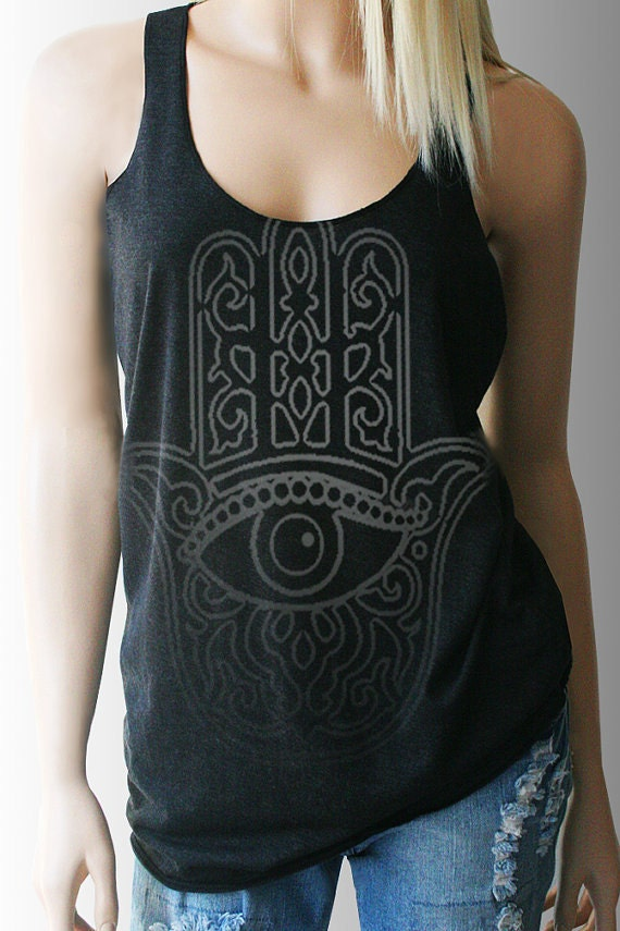 Hamsa Hand Yoga Tank Yoga Top Yoga Shirt By Tshirtaddict
