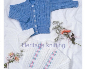 baby / child cardigans dk Knitting pattern 99p pdf
