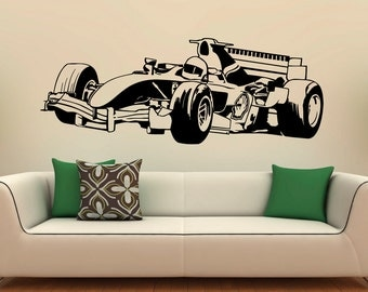 formula 1 sports race car racing wall decal vinyl poster decor. Black Bedroom Furniture Sets. Home Design Ideas