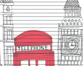 London Theme Stationary
