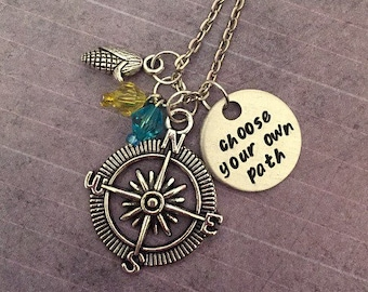 Choose Your Own Path Necklace - Fairytale Jewelry - Once Upon A Time Jewelry - Princess Jewelry