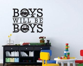 Boys will be Boys Playroom Wall Decal Sticker