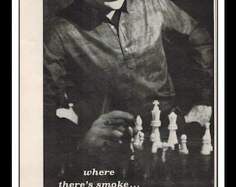 "Vintage Print Ad September 1962 : Paddle and Saddle Sportswear Chess Fashion Clothing Wall Art Decor 5"" x 11"" Advertisement"