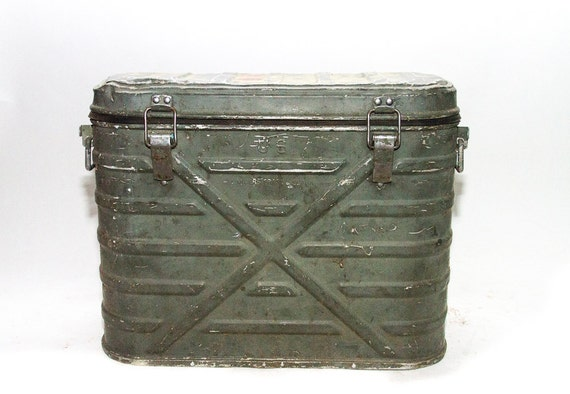 Us Army Cooler Landers Frary And Clark Metal Cooler 1960 Green