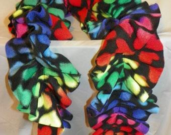 Fleece Ruffle Scarves - Patterns