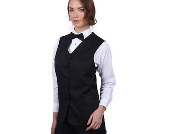 Women's Black Full Back Tunic Vest