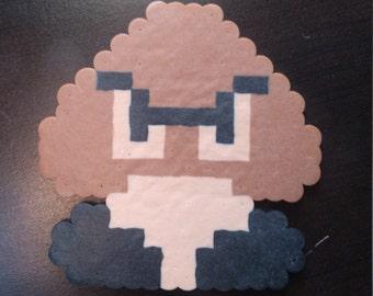 Nintendo Goomba Perler Bead Magnet
