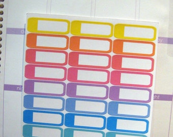 Rounded Corner Planner Stickers