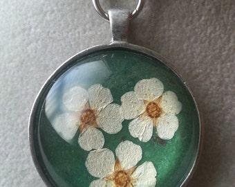 Real Spirea Necklace