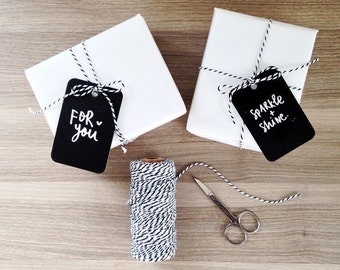 Monochrome Gift Tags (Pack of 6)