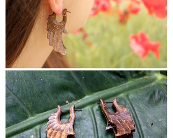Coconut Angel Wings Earrings