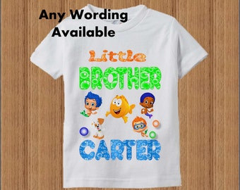 Bubble Guppies Brother Shirt - Bubble Guppies Birthday Brother Shirt