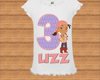 Izzy Birthday Shirt - Neverland Pirates Girls Birthday Shirt
