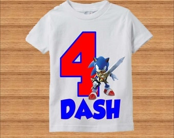 Sonic Birthday Shirt - Sonic the Hedgehog Birthday Shirt - Raglan Shirt Available