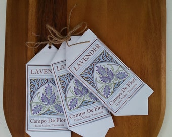 Lavender Sachet This cleverly folded paper sachet is filled with Tasmanian Lavender grown at Campo de Flori. Printed on FSC certified paper.