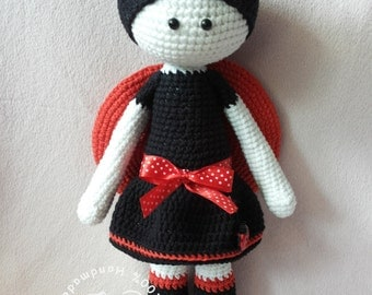 Lilly The Ladybird, crochet pattern, toy, doll