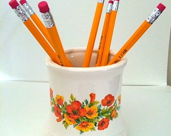 1960's Floral mug with Citrus Colors.