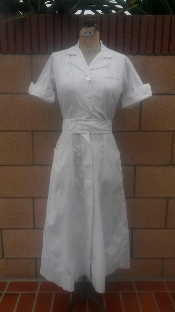 Vintage Nurses Uniform - Free Real Tits-4901